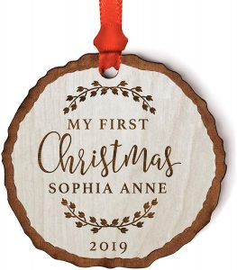 Wood Personalized Ornament